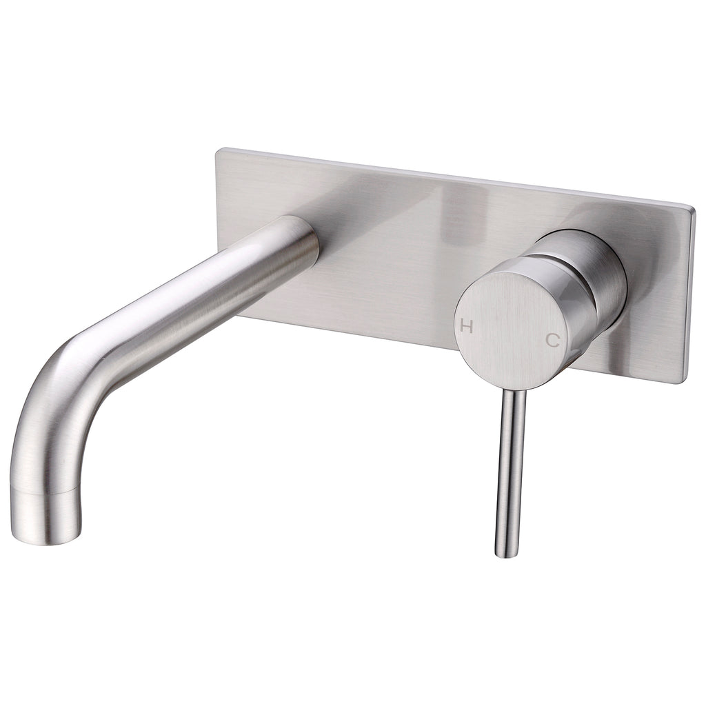 CLASSIC ROUND BRUSHED ROUND WALL BASIN MIXER