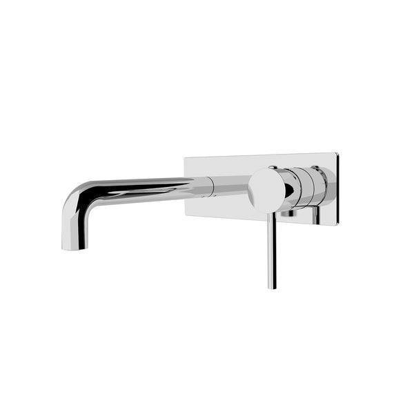 CLASSIC ROUND CHROME WALL BASIN MIXER