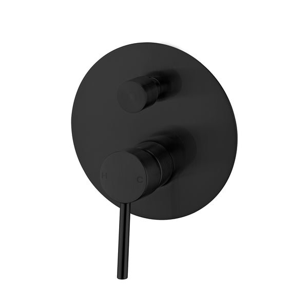 CLASSIC ROUND MATTE BLACK SHOWER MIXER WITH DIVERTER