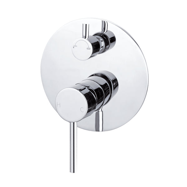 CLASSIC ROUND CHROME SHOWER MIXER WITH DIVERTER