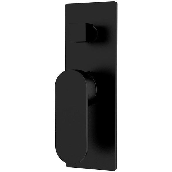 Loof Matt Black Diverter Shower Mixer