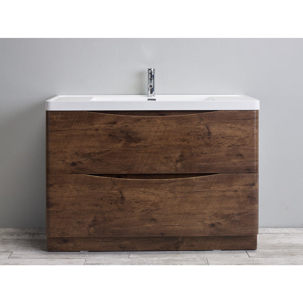 SMILE 1200 SINGLE/DOUBLE FLOOR ROSEWOOD VANITY