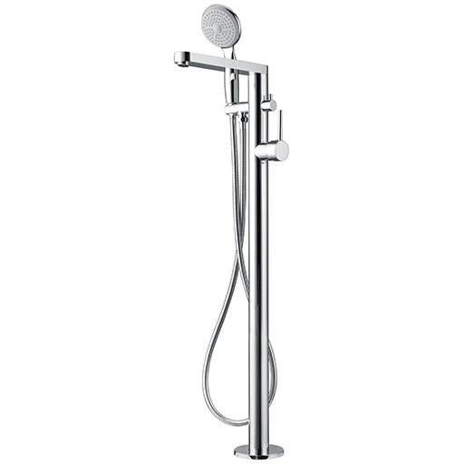 Floor standing bath spout with hand held shower F003