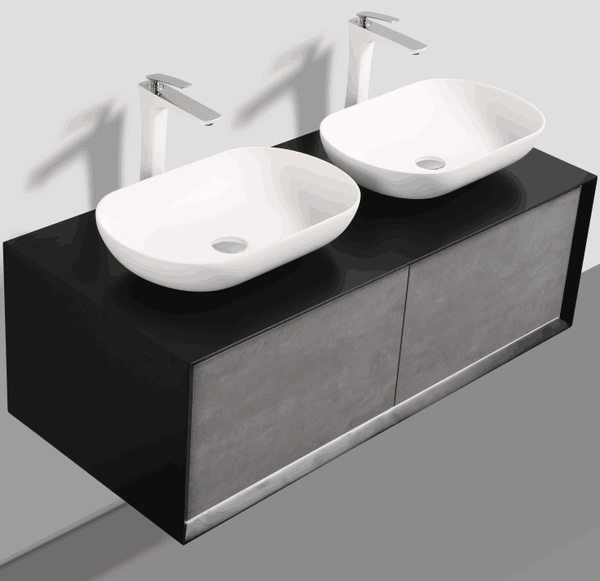 Fiona Black and Grey Wall hung vanity