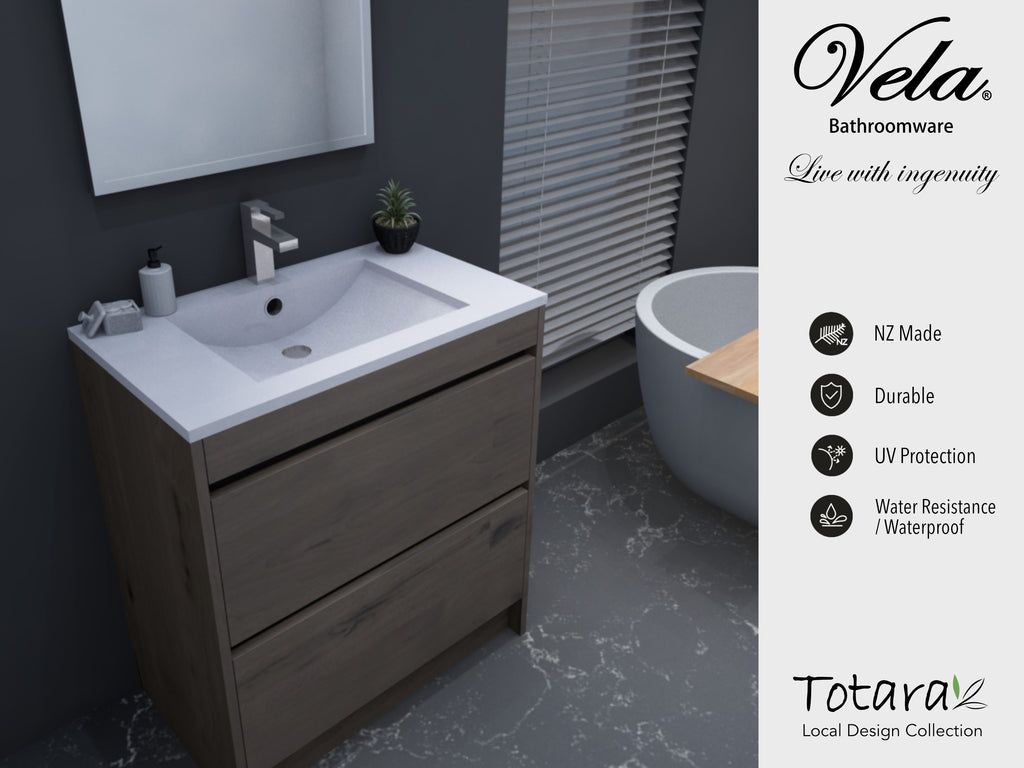 NZ Made Pania 750 Floor Standing Vanity - Available in 6 different finishes
