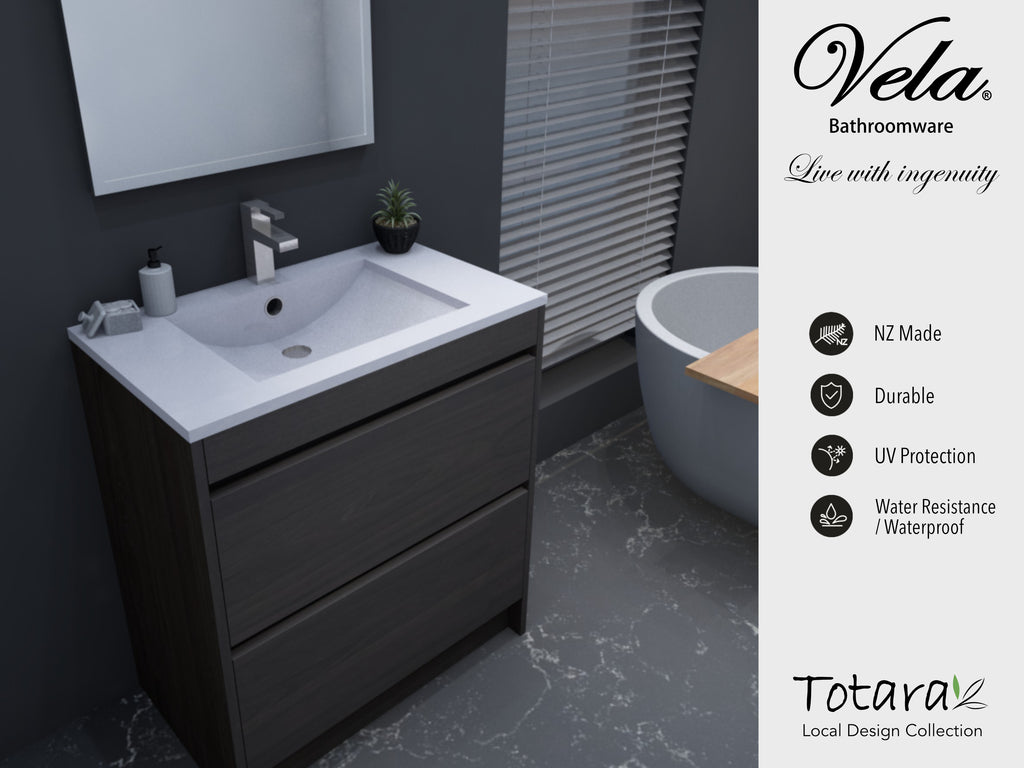 NZ Made Pania 900 Floor Standing Vanity - Available in 6 different finishes
