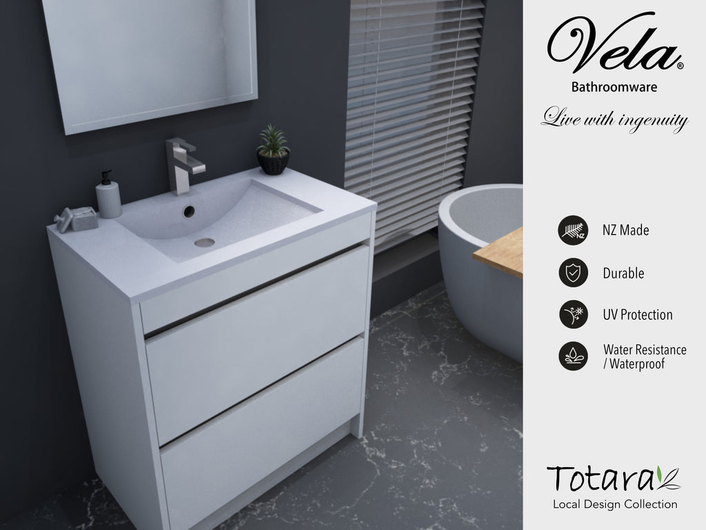 NZ Made Ngaio 750 Floor Standing  Vanity - Available in 7 different finishes