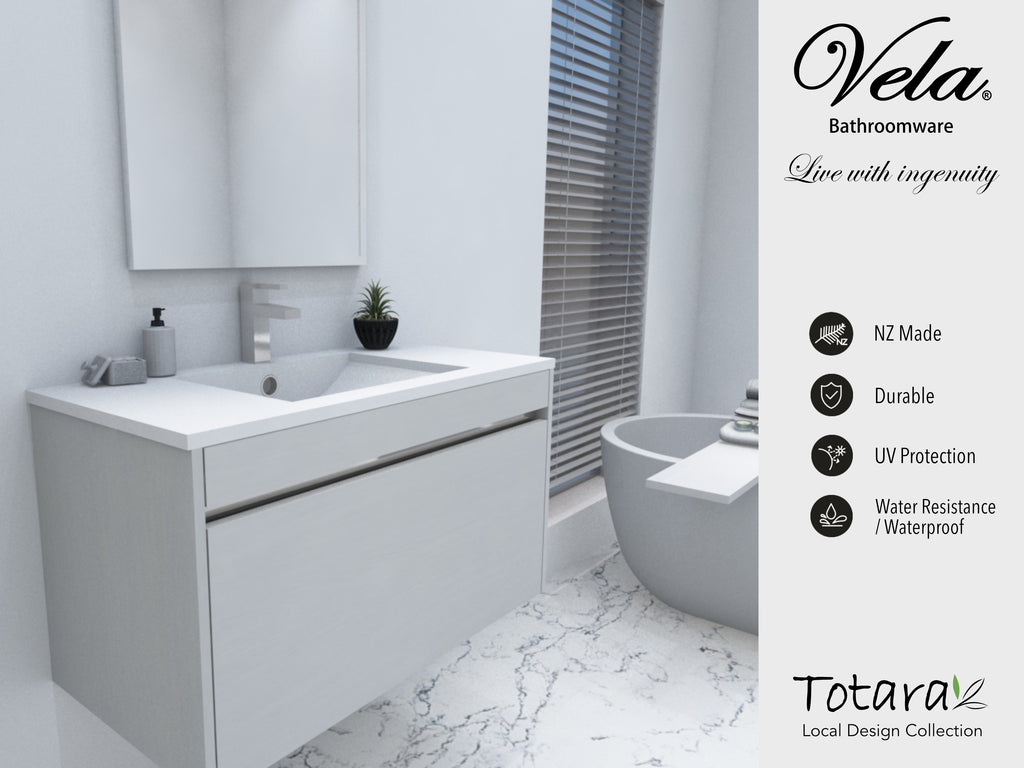 NZ Made Ngaio 750 Wall Hung Vanity - Available in 7 different finishes