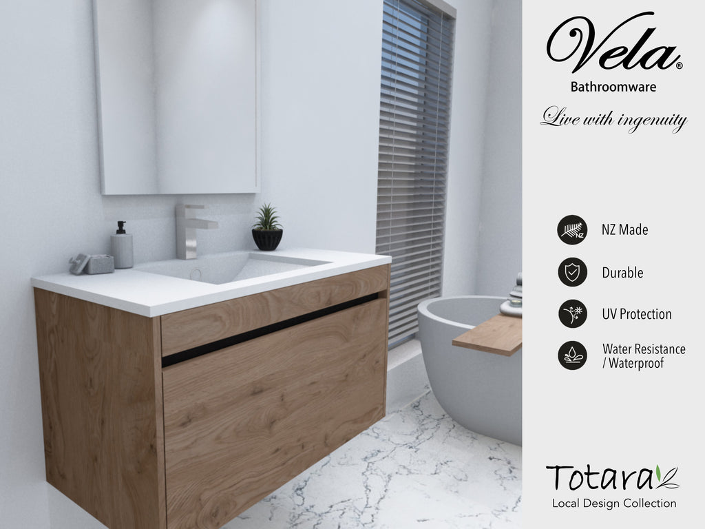 NZ Made Ngaio 1000 Wall Hung Vanity - Available in 7 different finishes
