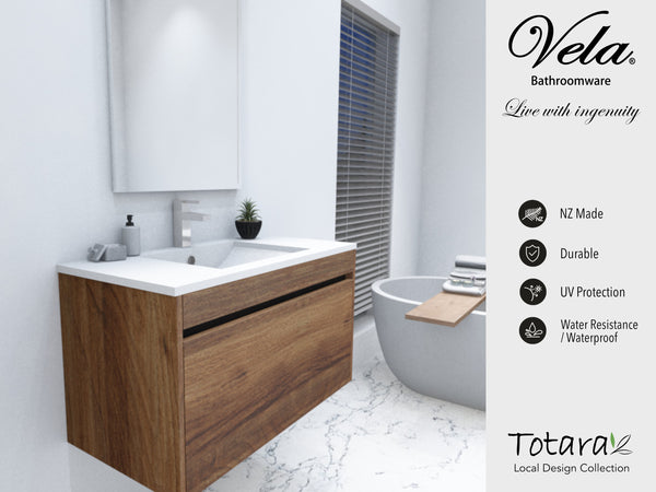 NZ Made Ngaio 600 Wall Vanity - Available in 7 different finishes