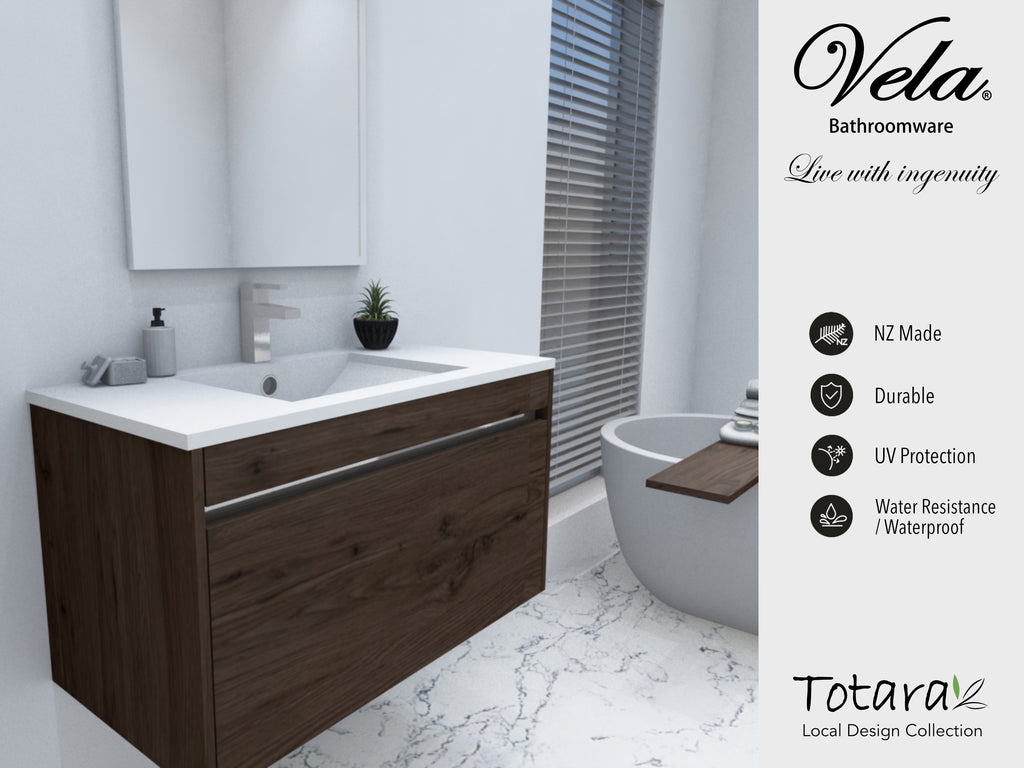NZ Made Pania 600 Wall Hung Vanity - Available in 6 different finishes