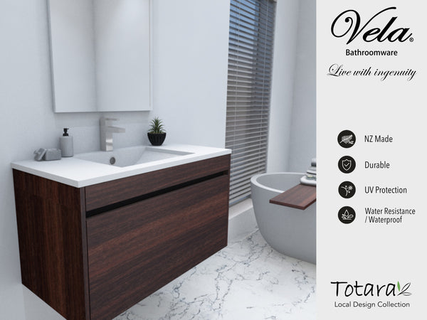 NZ Made Pania 1000 Wall Hung Vanity - Available in 6 different finishes