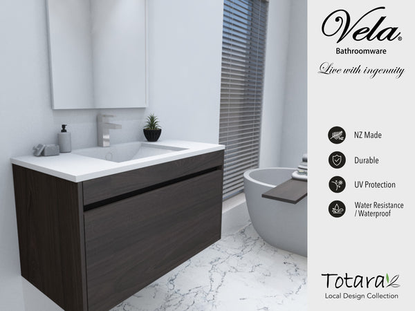 NZ Made Pania 900 Wall Hung Vanity - Available in 6 different finishes