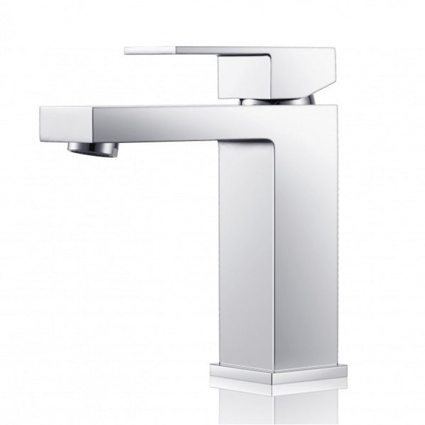 ROCK SQUARE CHROME BASIN MIXER