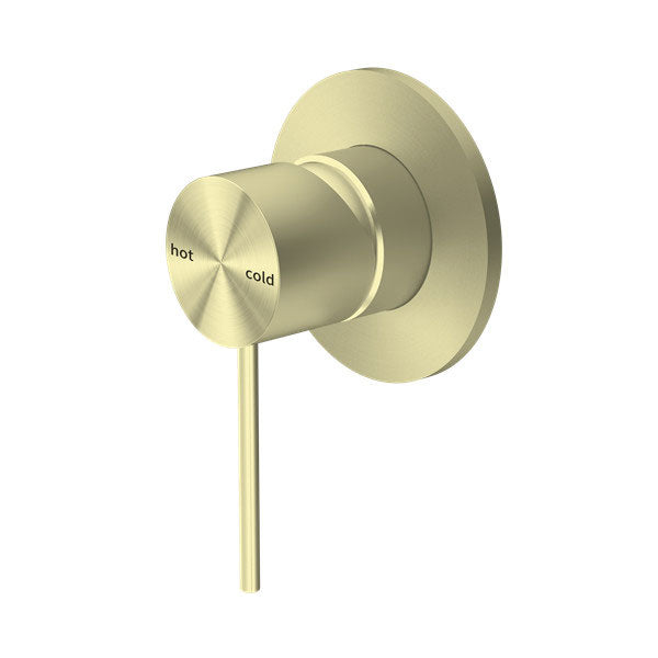 RONDO BRUSHED GOLD SHOWER MIXER