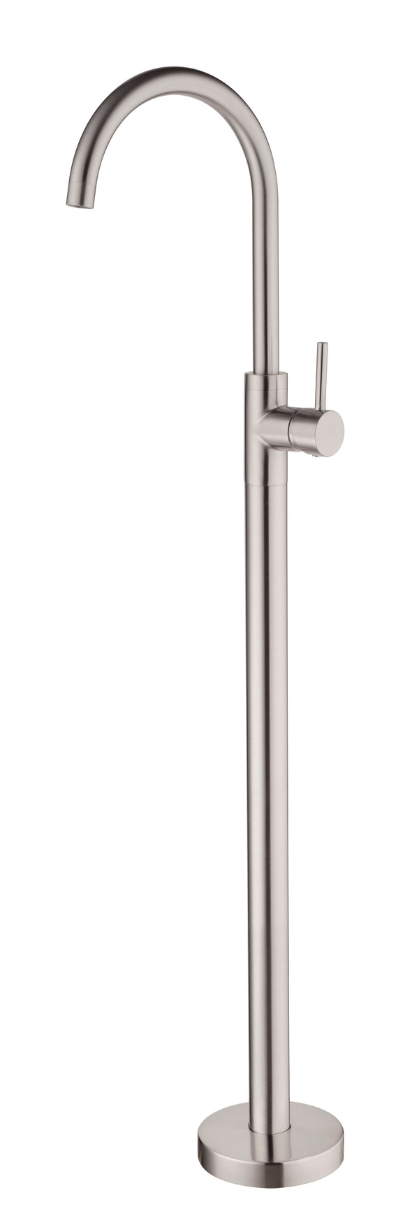 RONDO BRUSHED NICKEL FREE STANDING BATH MIXER