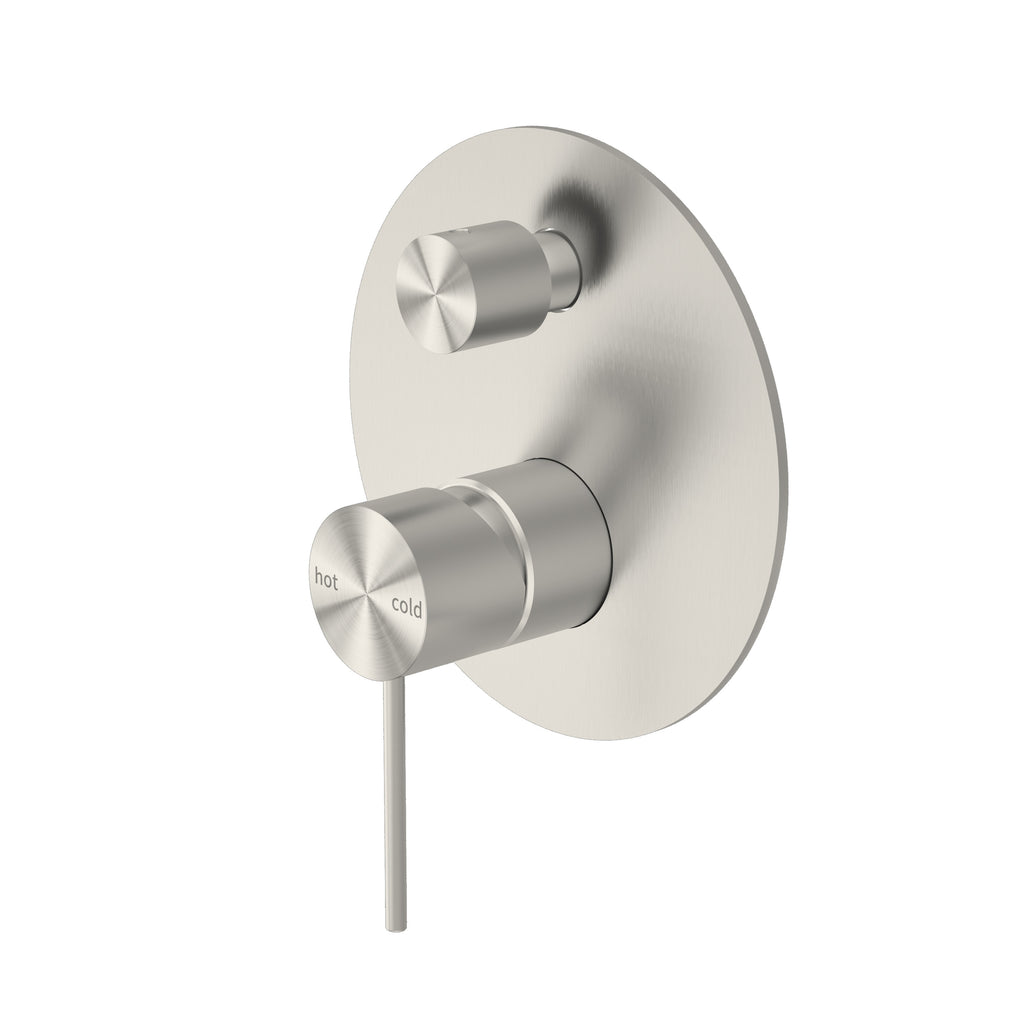 RONDO BRUSHED NICKEL SHOWER MIXER WITH DIVERTER