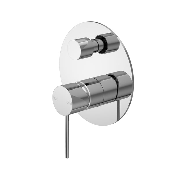 RONDO CHROME SHOWER MIXER WITH DIVERTER