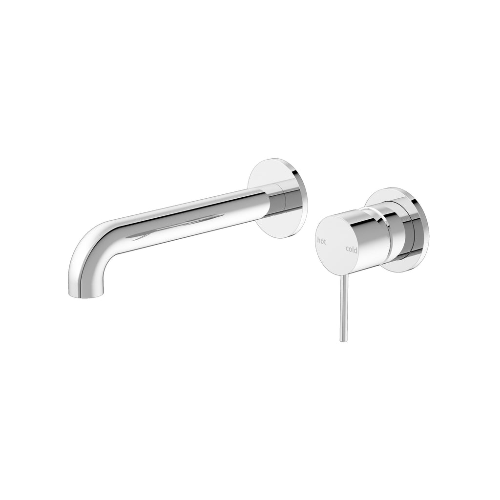 RONDO CHROME WALL BASIN MIXER160/185/230MM ( SEPARATE BACK PLATE)