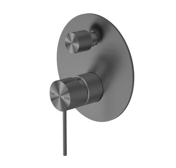 RONDO GUN METAL GREY SHOWER MIXER WITH DIVERTER