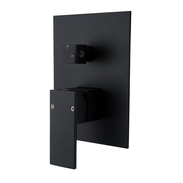 Rock Matt Black Shower Mixers Diverted
