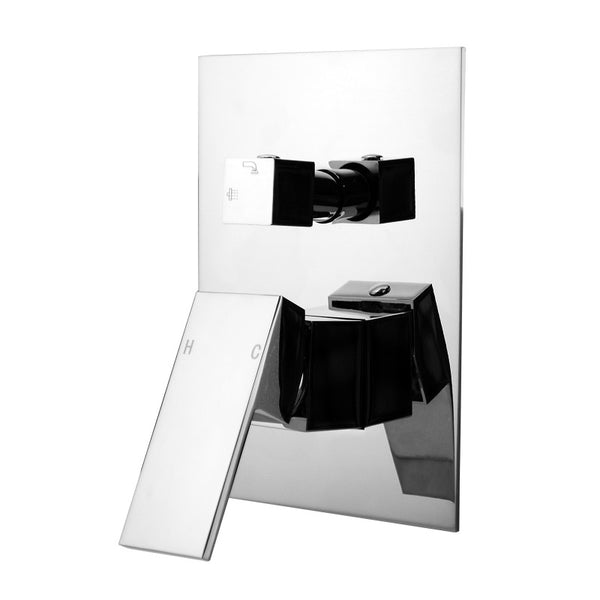 Rock Square Chrome Shower Mixers with Diverter