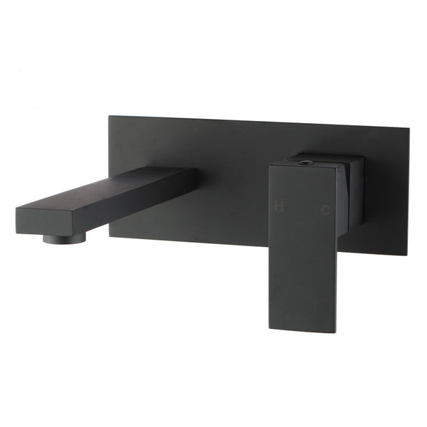 Rock Matt Black Wall Mixer With Spouts
