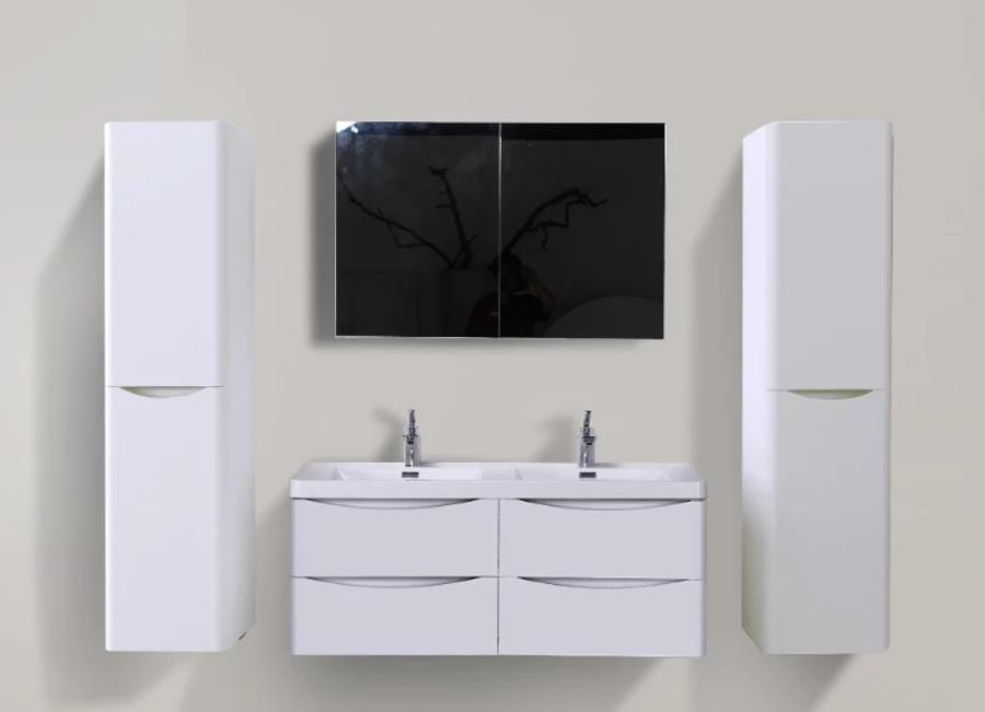 SMILE 1500 DOUBLE WALL HUNG WHITE VANITY