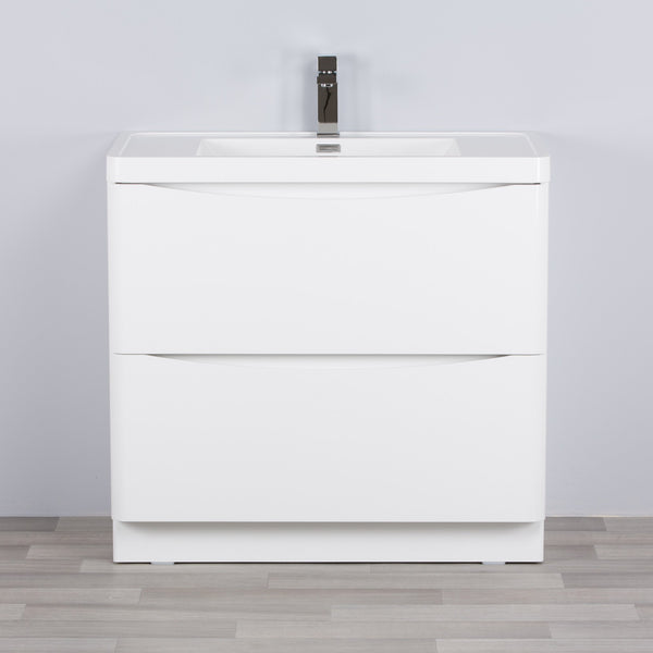 SMILE 800mm/900mm FLOOR WHITE VANITY