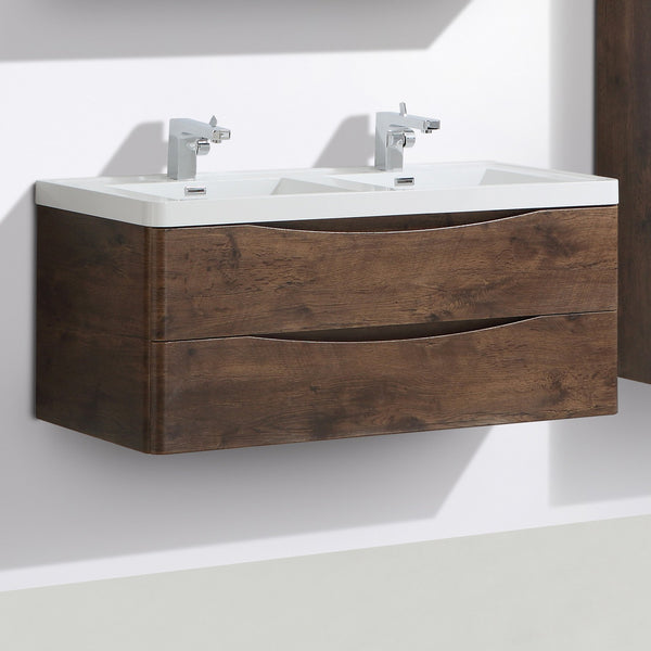 SMILE 1200 DOUBLE/SINGLE BASIN WALL HUNG VANITY