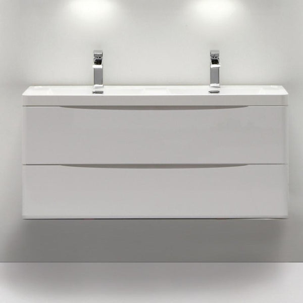 SMILE 1200 SINGLE/DOUBLE WALL HUNG WHITE VANITY
