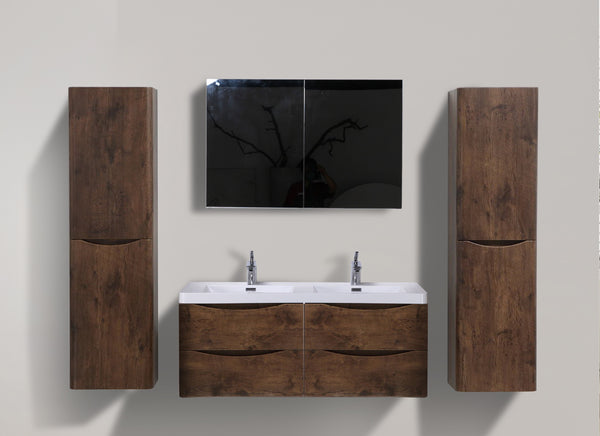 SMILE 1500 DOUBLE WALL HUNG ROSEWOOD VANITY