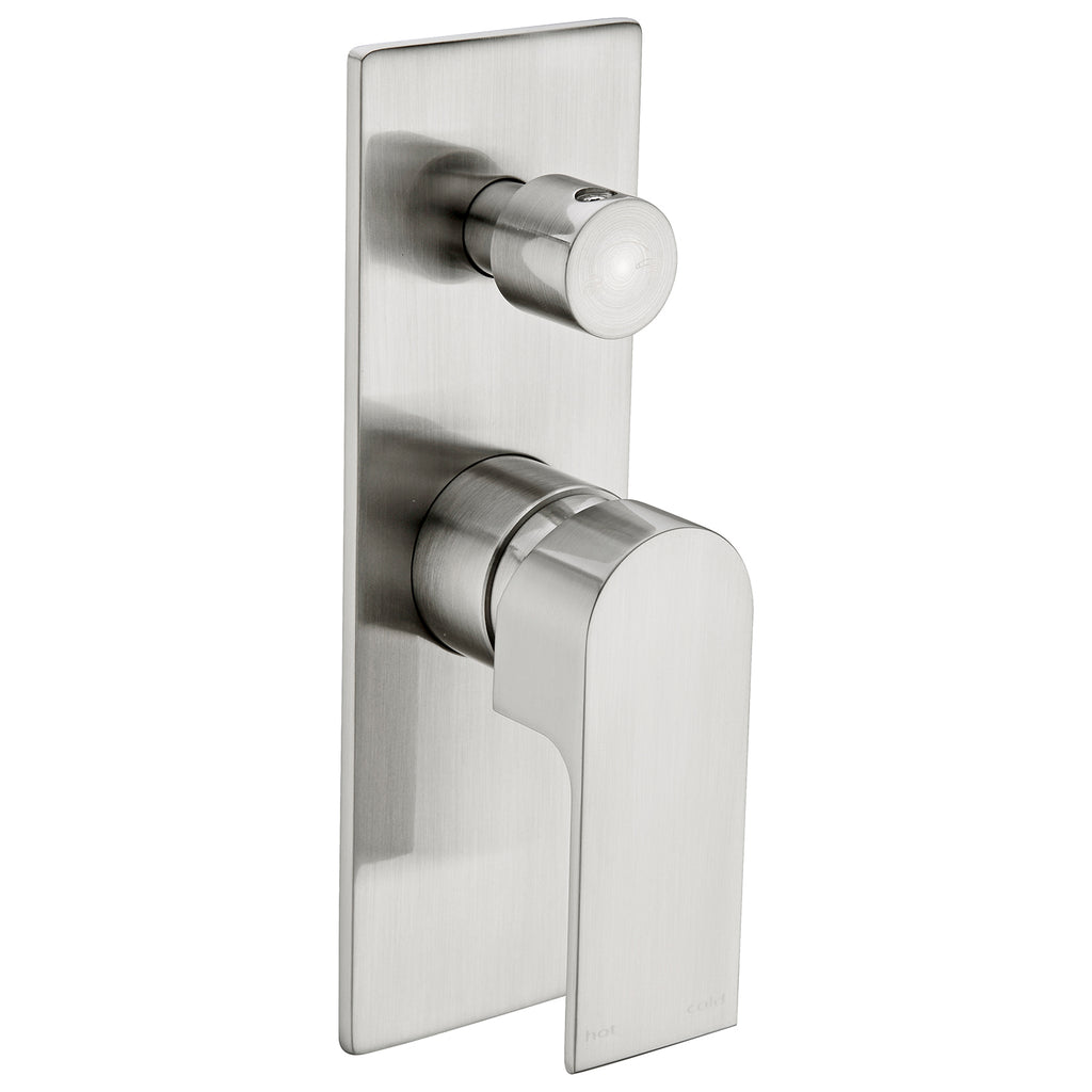 VITRA BRUSHED NICKEL SHOWER MIXER WITH DIVERTER
