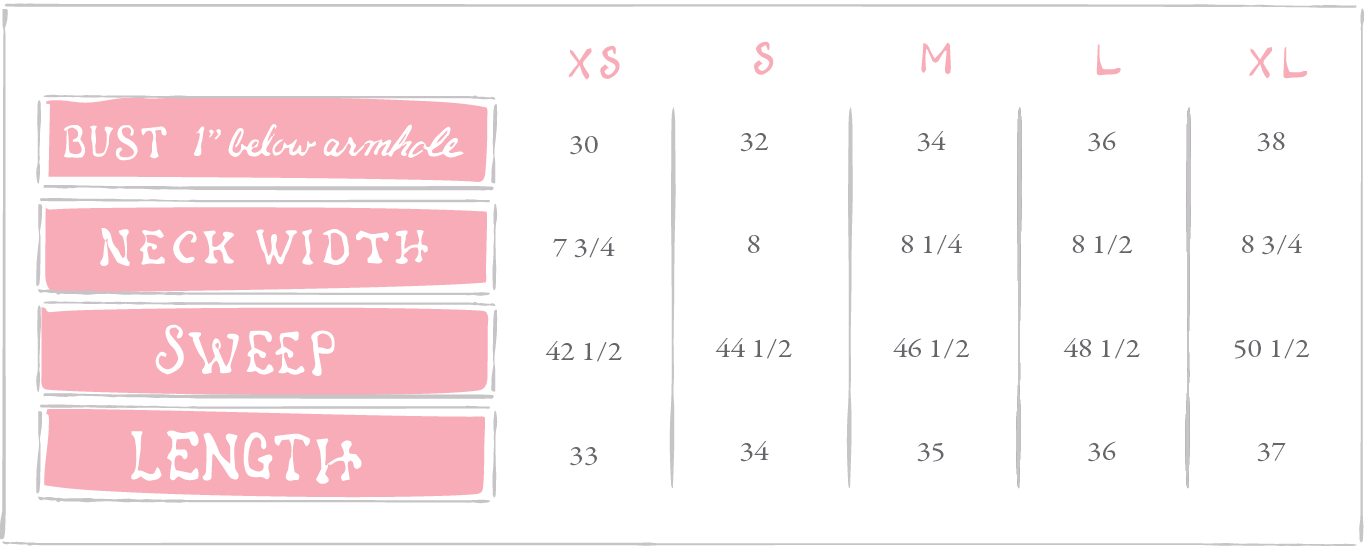 The Ellie Printed Dress Sizing