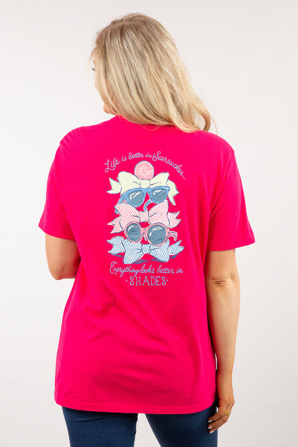 Raspberry-Better In Shades Sweet Tee S/S-Back 3