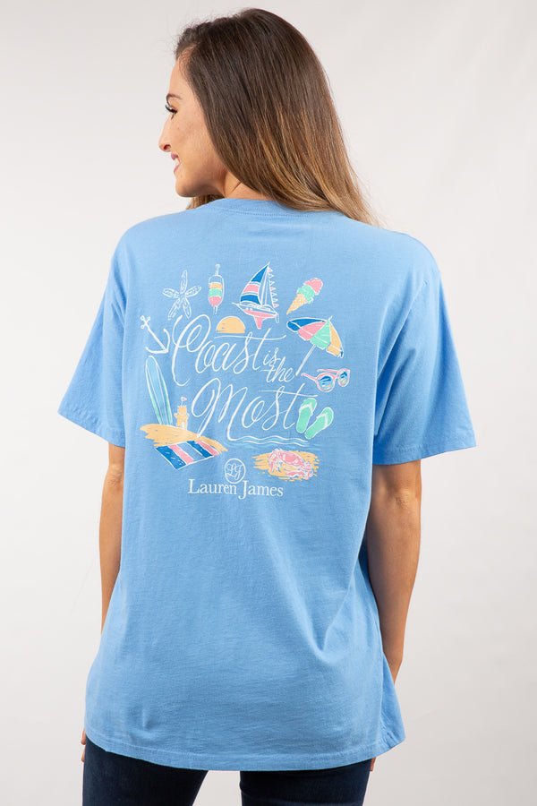 Delta Blue - Coast Is The Most Sweet Tee S/S - Back 3
