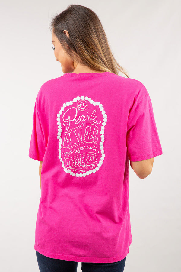 Raspberry-Pearls Are Always Appropriate Sweet Tee S/S-Back 3