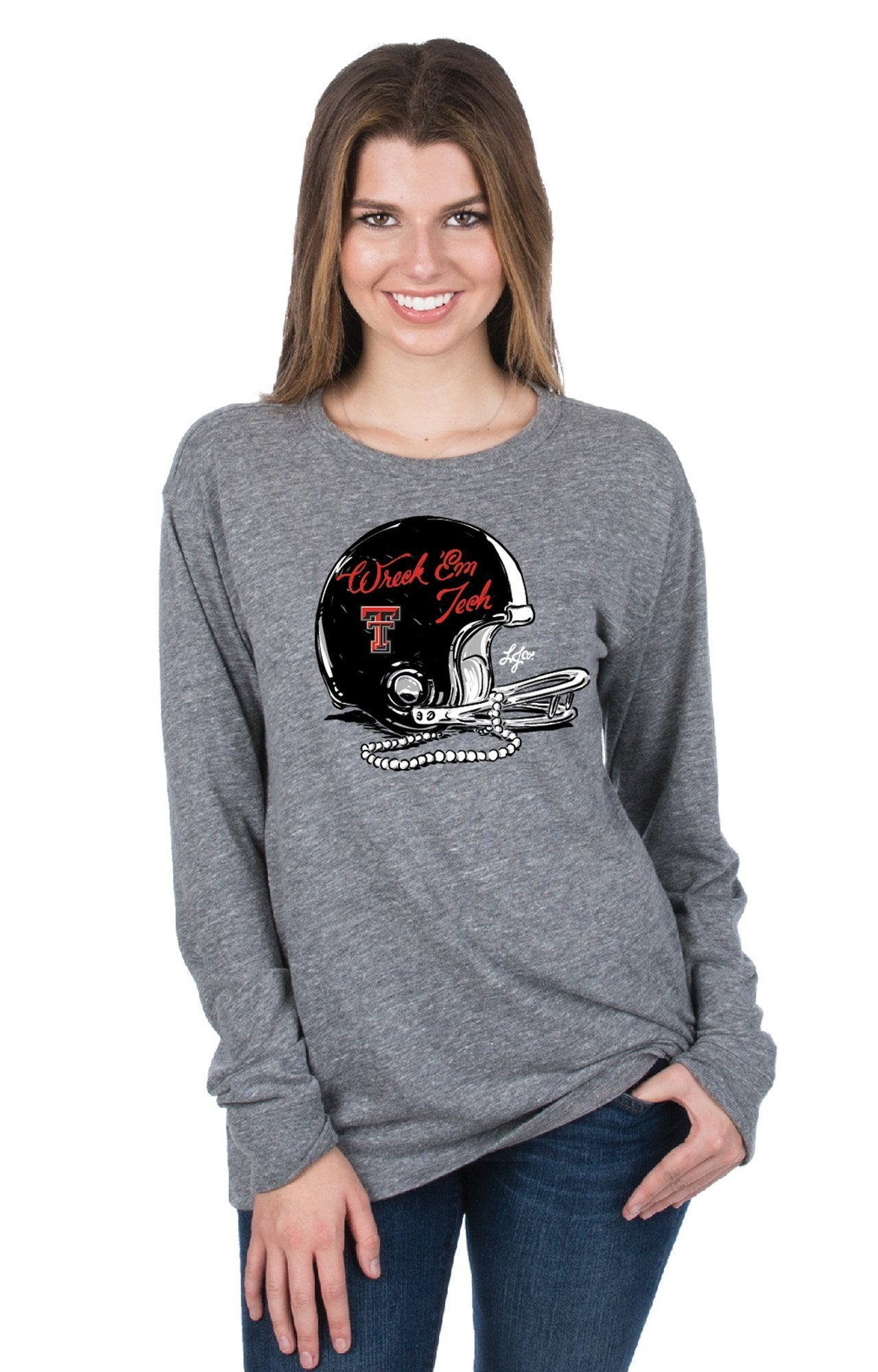 Grey - Texas Tech Gameday Gear L/S - Front