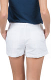 White - Poplin Shorts Back