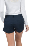 Navy - Poplin Shorts Back