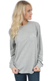 Heather Grey - Mississippi State Helmet Tee - Long Sleeve Front