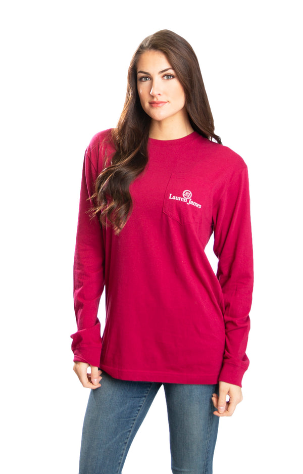 Cranberry Red - Tea It up L/S - Back