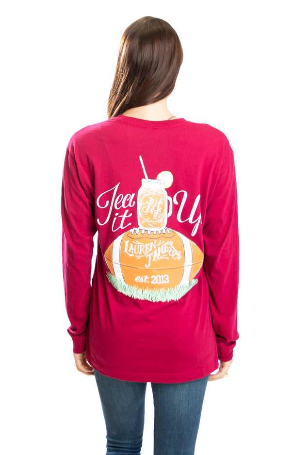 Cranberry Red - Tea It up L/S - Front
