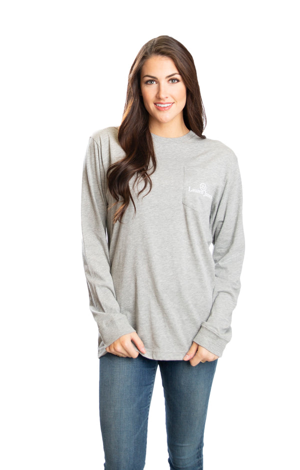 Heather Grey - Sip Sweetly 2.0 L/S - Back