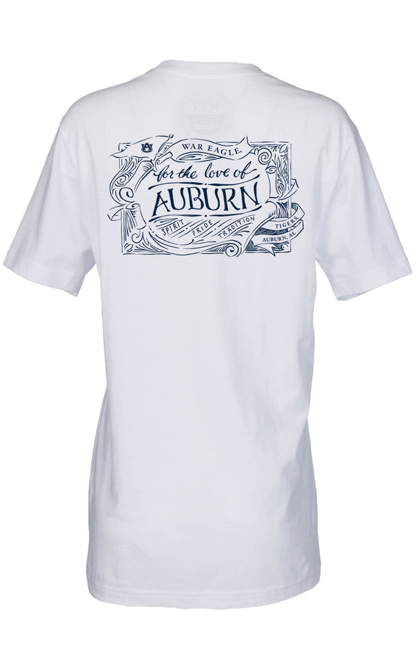 White - For the Love of Auburn Tee - Short Sleeve - Front