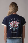 American Magnolia Cropped V- Notch