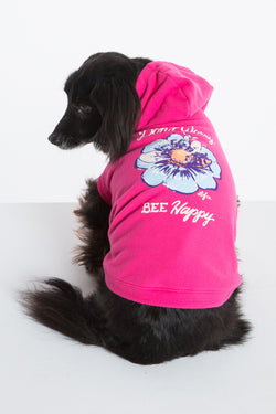BEE HAPPY DOG HOODIE