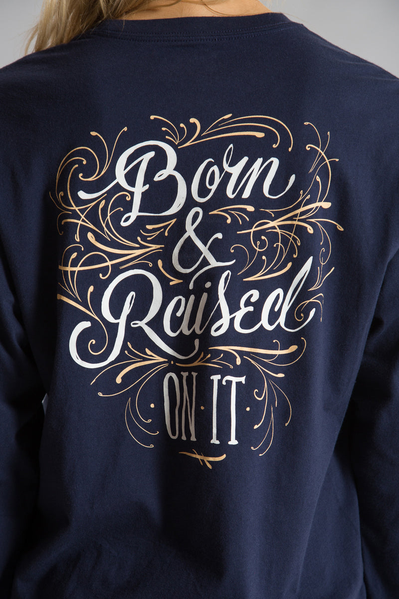 Estate Blue-Born and Raised Tee L/S- Back 2