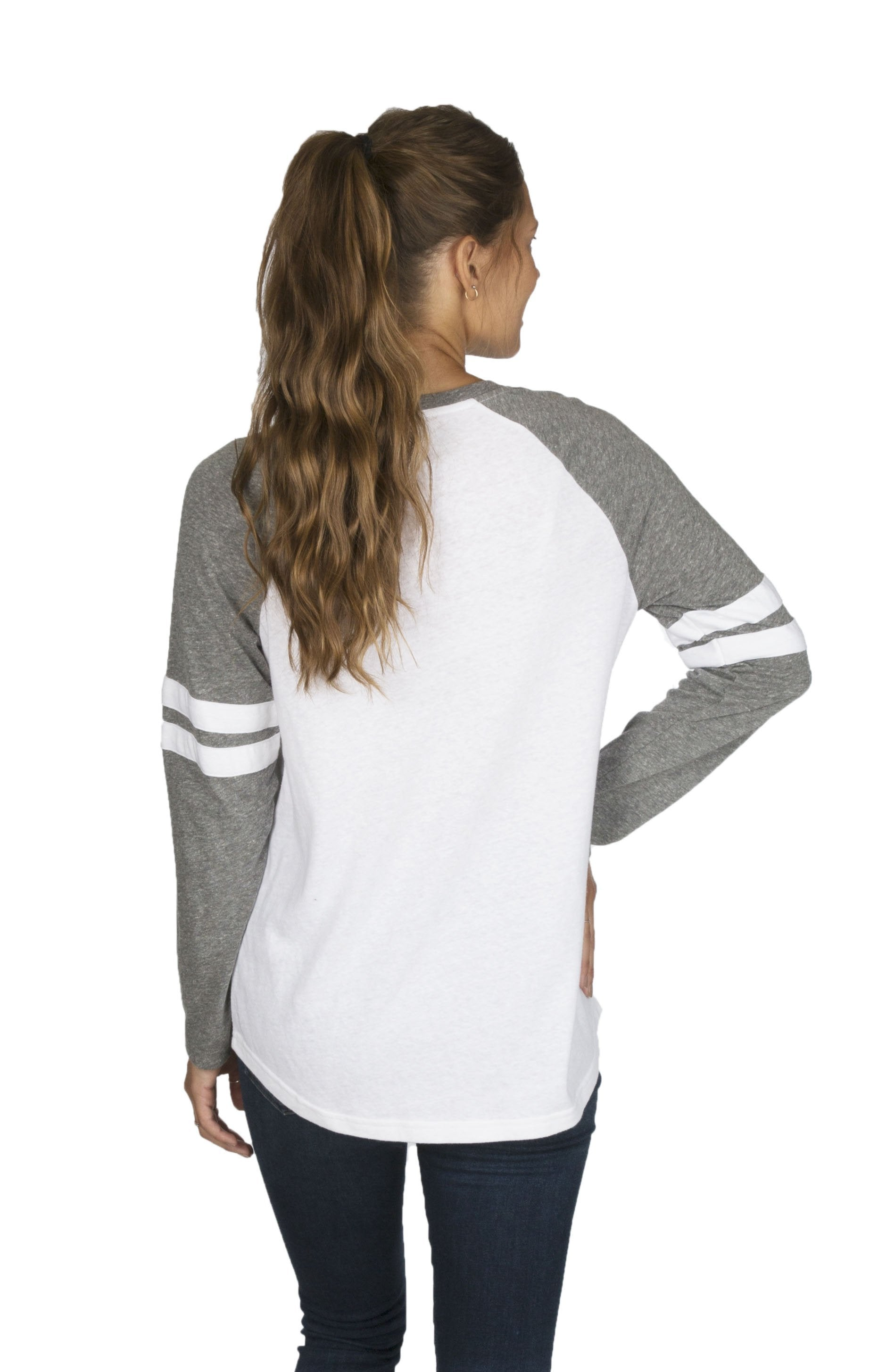 Grey - Knoxville Jeanie Baseball Jersey - Front