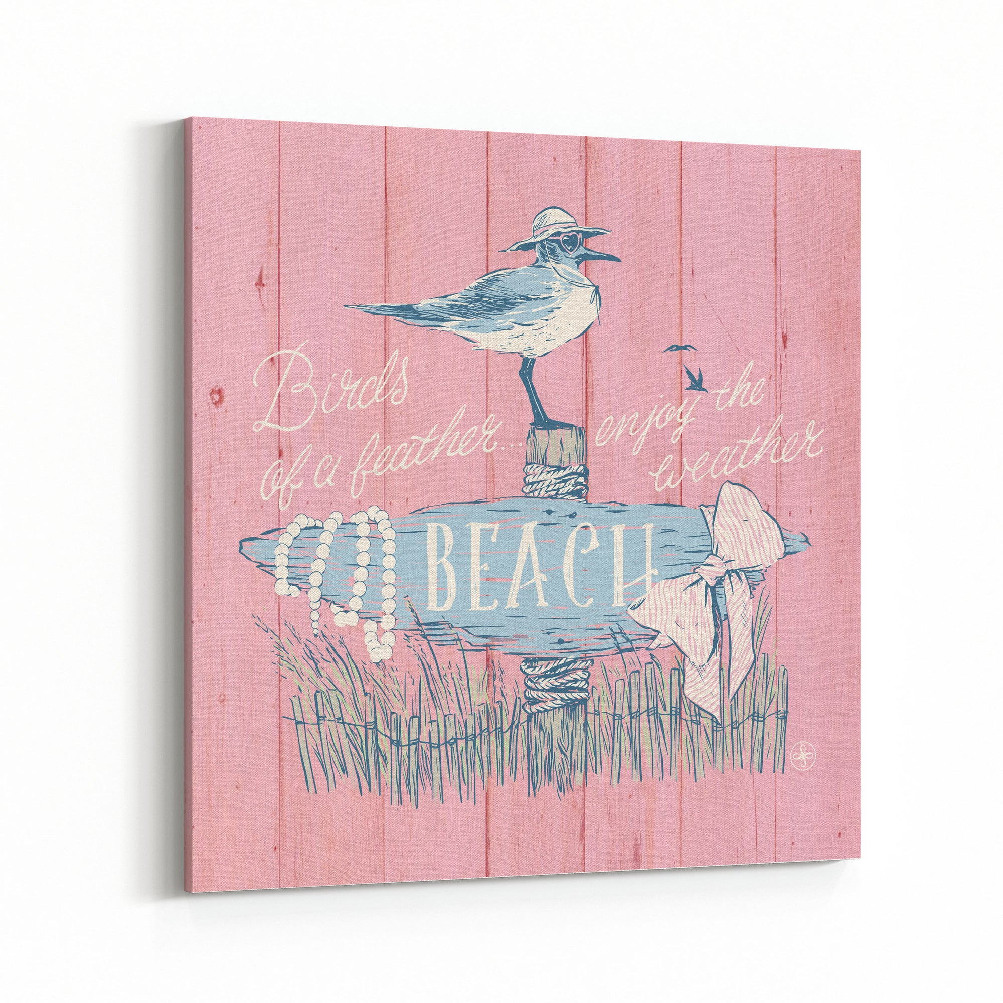 Birds of a Feather (Pink) Canvas